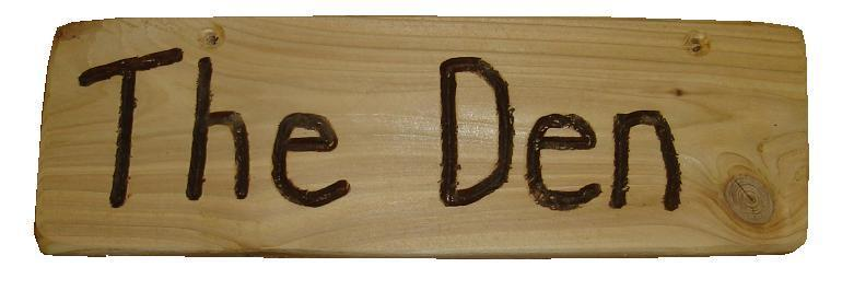 The den rustic sign leeway woodwork for The sign