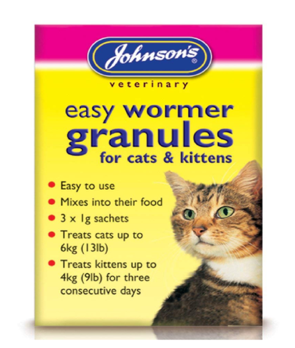 JOHNSONS CAT WORMING GRANULES