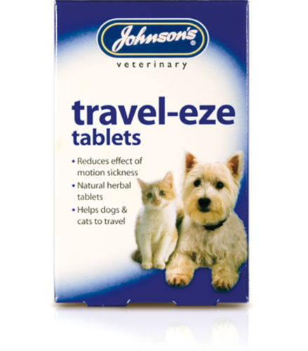 JOHNSON'S TRAVEL-EZE TABLETS FOR CATS OR DOGS