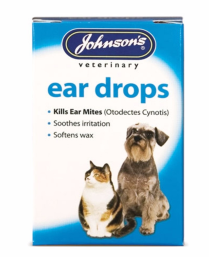 JOHNSONS EAR DROPS 15ML FOR CATS & DOGS
