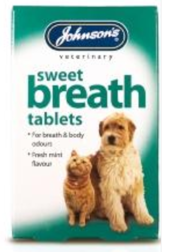 JOHNSONS SWEET BREATH TABLETS FOR DOGS & CATS