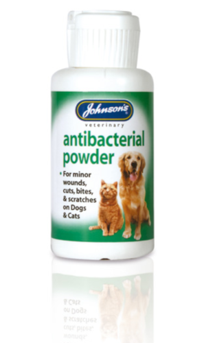 JOHNSONS ANTIBACTERIAL POWDER FOR CATS & DOGS
