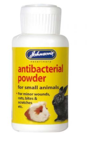 JOHNSONS ANTIBACTERIAL POWDER FOR SMALL ANIMALS