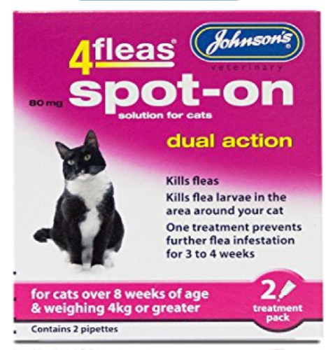 JOHNSON'S CAT JOHNSONS 4FLEAS DUAL ACTION SPOT ON FOR CATS & KITTENS