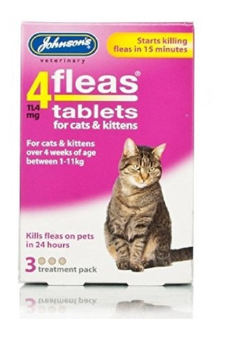 JOHNSON'S 4 FLEAS TABLETS FOR CATS & KITTENS 3 TAB PACK