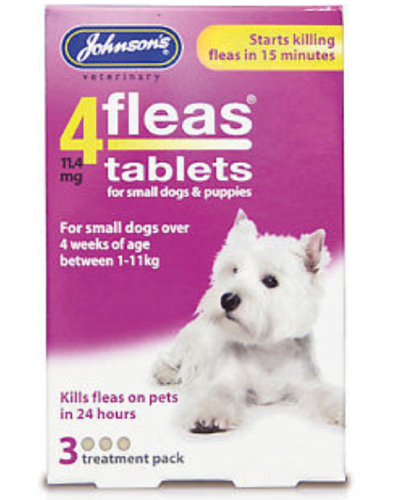 JOHNSON'S 4 FLEAS TABLETS FOR SMALL DOGS