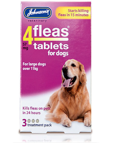 JOHNSON'S 4 FLEAS TABLETS FOR LARGE DOGS